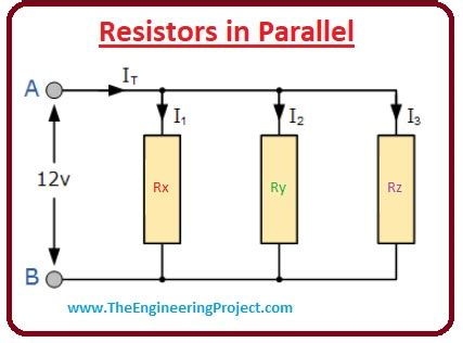 Resistors Parallel Combination The Engineering Projects