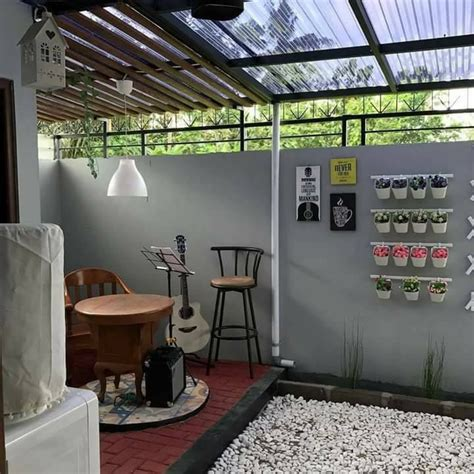 inspirasi dapur yg menyatu  taman outdoor belakang