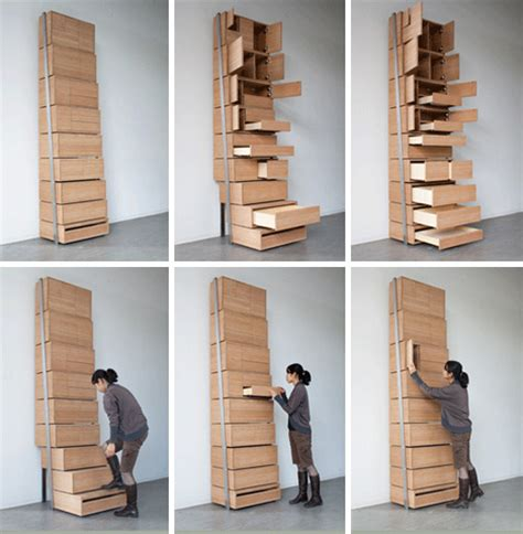 space saving staircase shelves  floor  ceiling storage