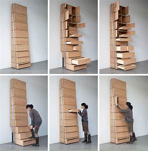 Space-Saving Staircase Shelves for Floor-to-Ceiling Storage