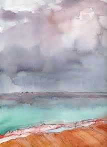 Watercolor Paintings Ocean Scene