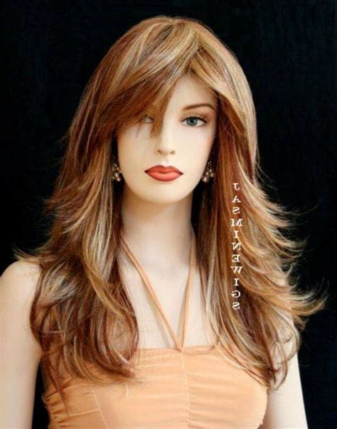long layered hairstyles  bangs simple hairstyle ideas  women  man cute pretty