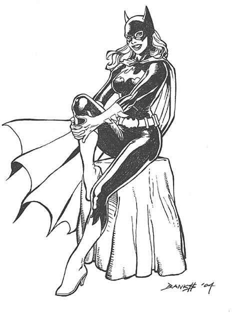 Kleurplaat Batgirl by Batgirl 7 Superheroes Printable Coloring Pages