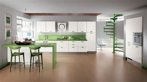 kitchen accent colors green accent color kitchen interior design ideas 2108