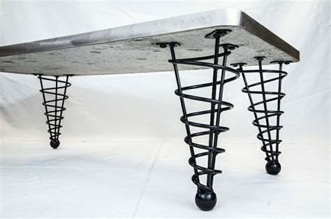 pied de table m 233 tallique spirale en fer forg 233