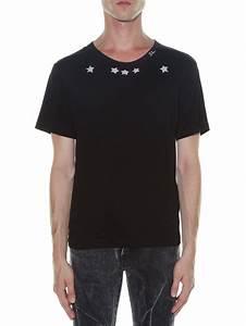 67ba9672ad T Shirt Saint Laurent. saint laurent t shirt in black blood luster ...