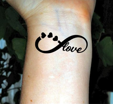 infini tatouage temporaire tattoo love tattoo coeur tatouages