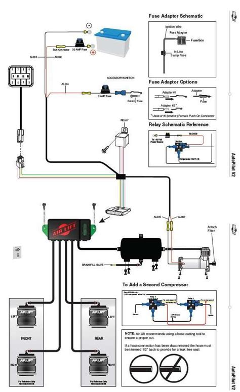 Wiring Diagram For Air Bag Suspension by Air Lift Auto Pilot V2 1 4 Quot Manifold Digital Controller