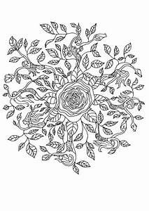 Rosenelfe Mandala Zum Ausmalen Dehellokidscom