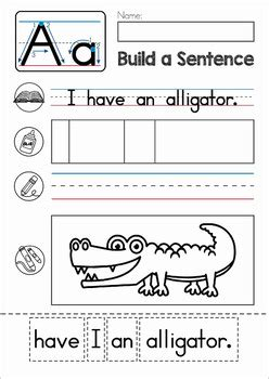 build  sentence sentence scramble cut  paste