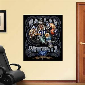crusher cowboy grinding it out mural fathead wall decal With dallas cowboys wall decals for kids rooms