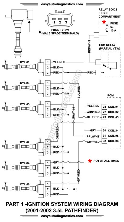Nissan Wiring Diagram Ford Ignition Module by Part 1 2001 2002 3 5l Nissan Pathfinder Ignition System