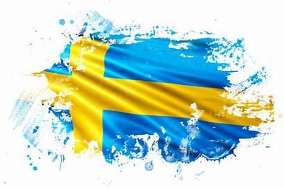 Swedish Flag Illustrations Grunge Ink Illustration Clip