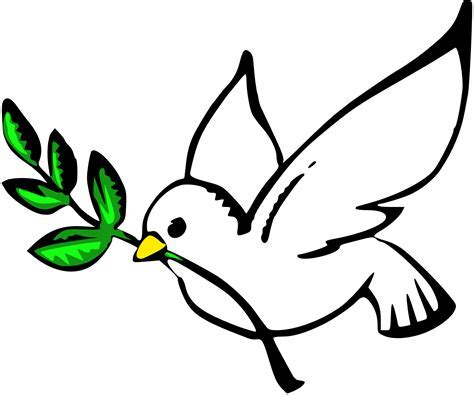 Dove Clipart A Dove With An Olive Branch In Its Beak Is A Universal