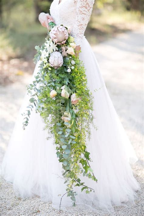 cascading wedding bouquets ideas  pinterest