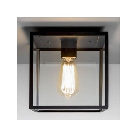 astro lighting 7389 box black exterior wall light 1354003 astro 7389 box 1 light outdoor flush ceiling light black