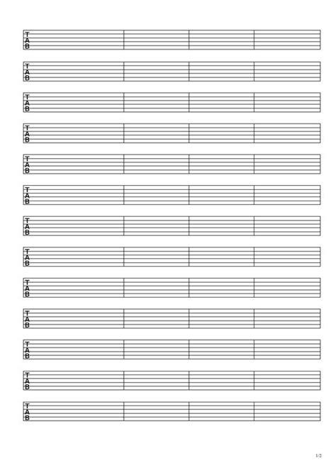 tab template guitar guitar tablature paper template guitar tablature paper guitar tablature paper