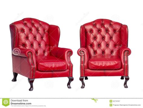 Luxury Vintage Red Armchair Stock Image