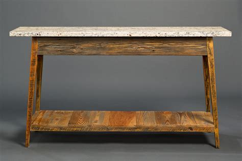 Stone Top Console With Shelf ? Landrum Tables