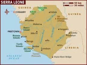 Map of Sierra Leone Sierra Leone