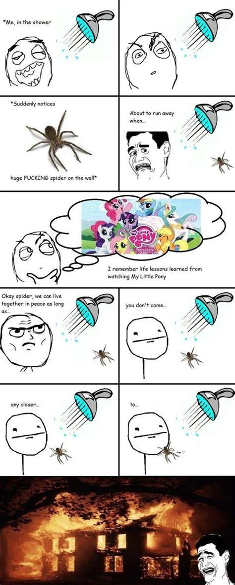 Shower Spider Meme - rage comics spiders www meme lol jokes