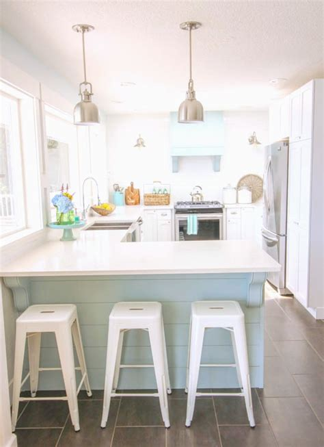 Our Coastal Style White Shaker Kitchen Makeover {the
