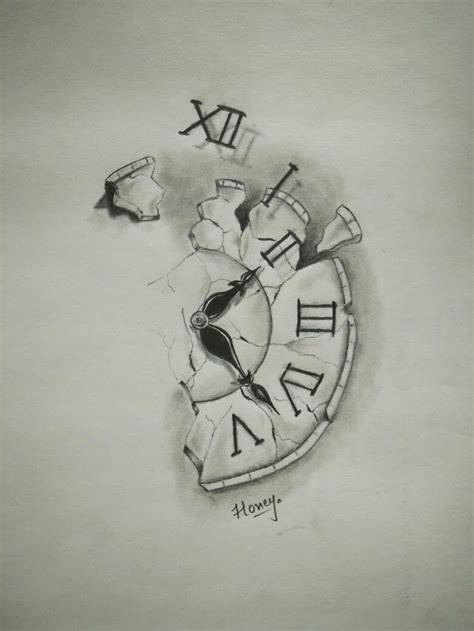 broken clock tattoos tattoos clock tattoo design