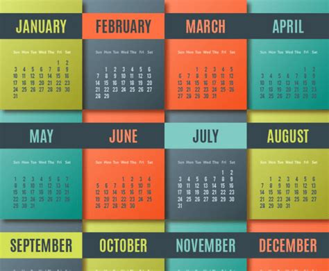 calendarios  coloridos  descargar  imprimir jumabu