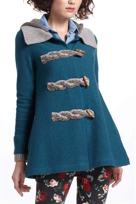 anthropologie sweaters anthropologie toggled basel sweater coat in blue