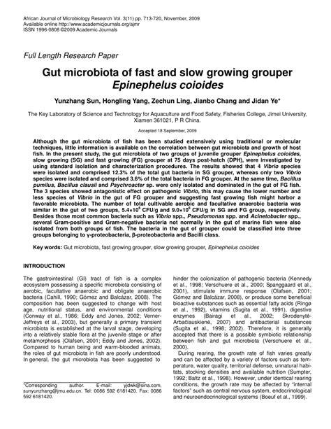 epinephelus microbiota gut grouper slow growing fast