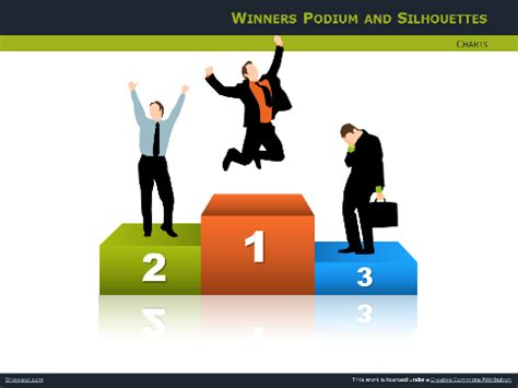 podiums  silhouettes  powerpoint  impress