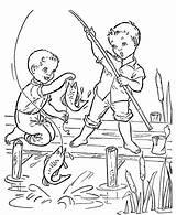 Brincando Pescaria Meninos Tudodesenhos sketch template
