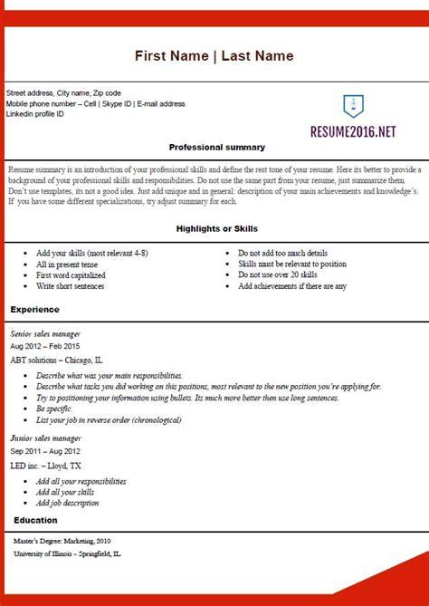 Best Free Resume Templates 2016 by Free Resume Templates 2016
