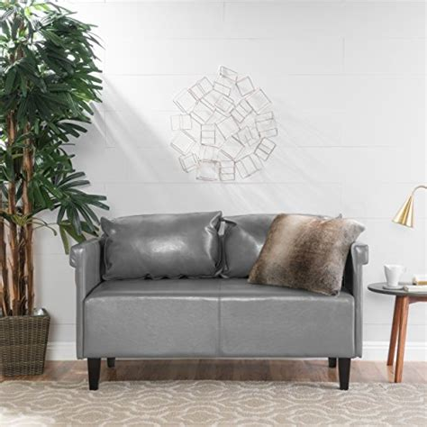 Grey Leather Settee by Harbison Grey Leather Settee Kitchen Dining