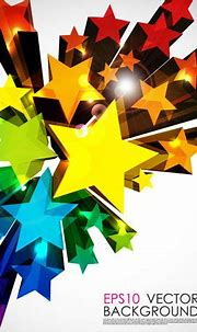 3D Star colorful background - Ai, Svg, Eps Vector Free ...