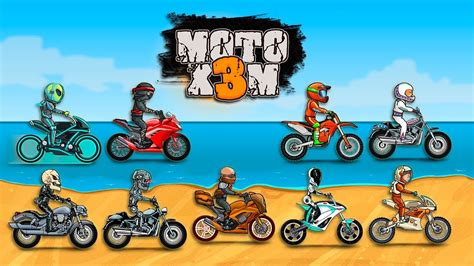 Moto X3m All Bikes Unlocked All Levels 3 Stars