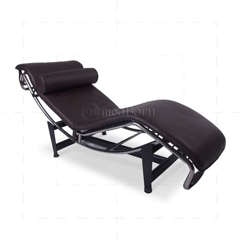 chaise lc4 le corbusier style lc4 chaise longue brown leather replica