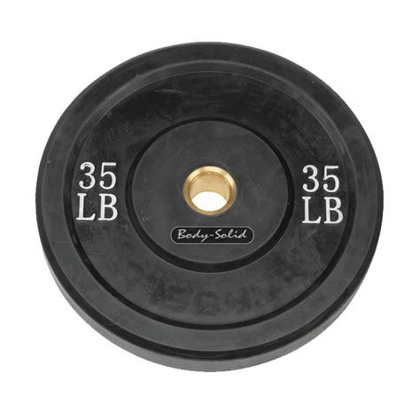 body solid  lb bumper plate black