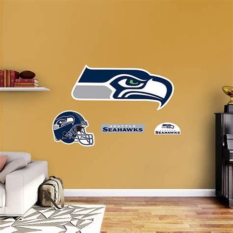 seattle seahawks logo wall decal shop fathead
