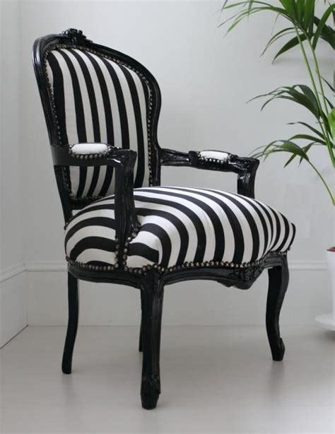 black and white striped chair fashionable interiors
