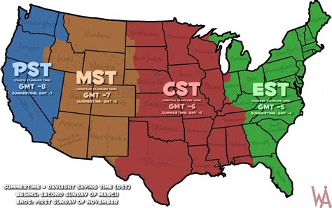 oil color time zone map usa whatsanswer
