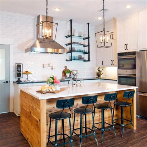 17+ Exquisite Kitchen Island Ideas Farmhouse Joanna Gaines