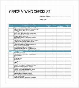 38 checklist templates free premium templates for Office relocation checklist template