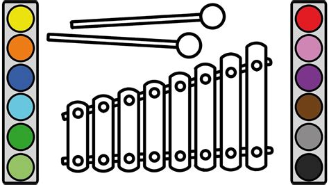 coloring pages xylophone coloring page  vocal