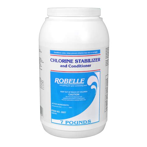 robelle chlorine stabilizer  conditioner  swimming