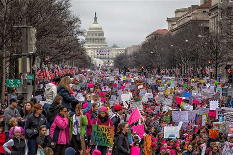 womens march  carrying    leaders