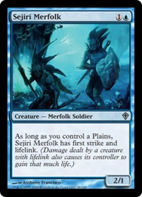 mtg merfolk deck standard sejiri merfolk the magic the gathering wiki magic