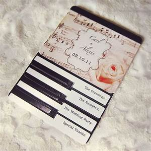 piano wedding programs or invitations layered vintage With free electronic wedding invitations with music