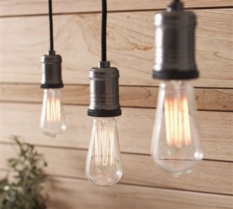 Pottery Barn Edison Lights by Exposed Bulb Pendant Track Lighting Pottery Barn