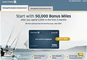 50000 bonus miles with the united mileageplus explorer for United explorer business card
